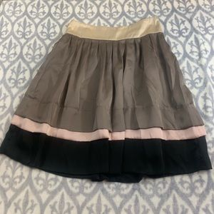 Zara fit and flare tiered skirt